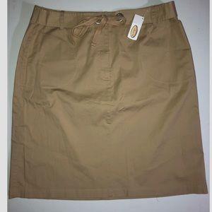 Talbots Khaki Tie Waist Skirt